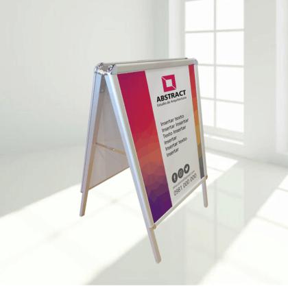 Caballete publicitario con impresión 64 x 88 cm