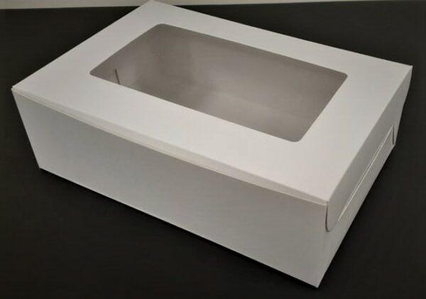 Caja rectangular con visor.