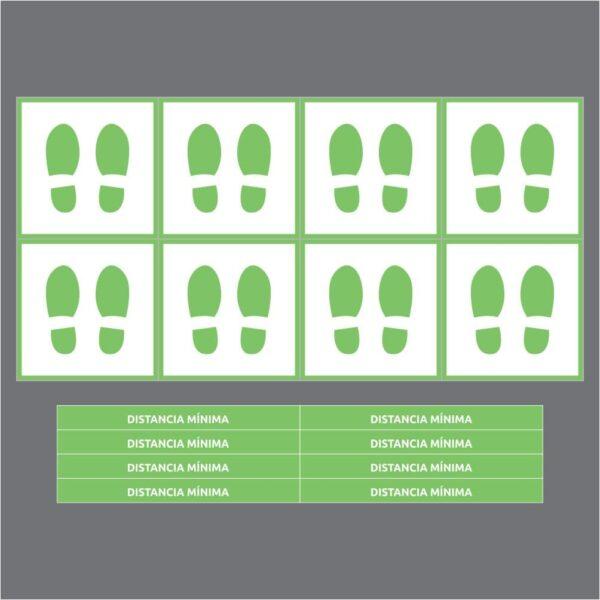 señales verde cuadrado