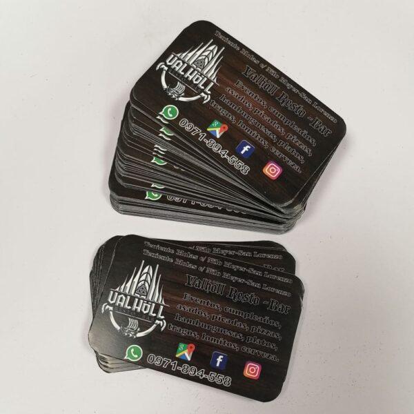 tarjeta personal punta redonda